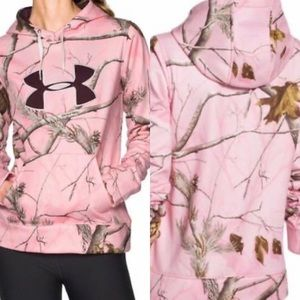 Under Armour ColdGear Hoodie Realtree Pink Camo
